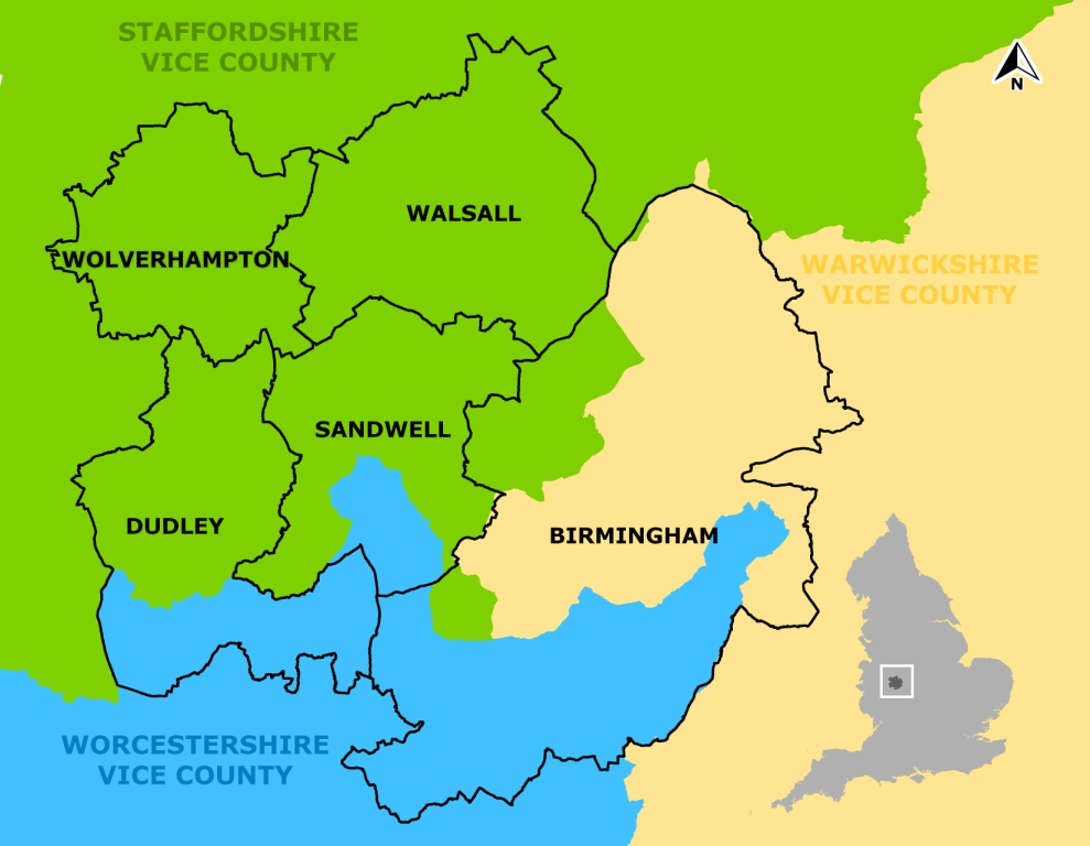 Map of Birmingham and the Black Country